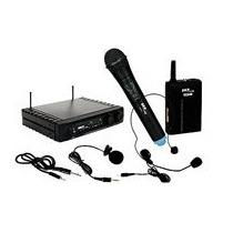 Microfone Skp Pro Áudio Uhf-271 Sem Fio Com Base Mão/ Lap