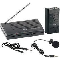 Microfone Sem Fio Com Lapela Vhf755 Alcance 50m Skp