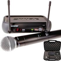 Microfone Shure Pgx24 Sm58 Sem Fio Original 1 Ano Garantia
