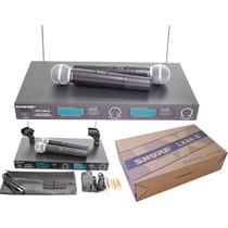 Microfone Sem Fio Shure Lx88 Ii Duplo C/ Case Aluminio