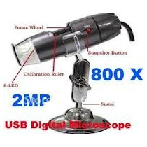 Microscopio Digital 2mp 8 Led 800x Usb Camera Frete Gratis