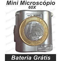 Mini Microscópio 60x - Com Ultra-violeta -garantia 1 Ano