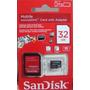 Cartão De Memória Sandisk Micro Sd Hc 32gb + Adaptador Sd.