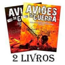 2 Livros Aviões De Guerra Mundial Edição Luxo Editora Escala