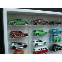 Estante Miniaturas Hot Wheels 100 Nichos Cristal White