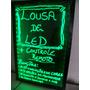 Lousa Quadro Painel Led Letreiro Luminoso 60x80cm + Canetas
