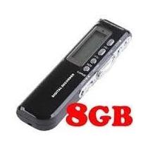 Gravador De Voz Digital Espião 8gb Escuta Telefônica E Mp3 !