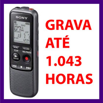 Gravador Voz Digital Sony Px240 4gb Grava Mais De 1000 Horas