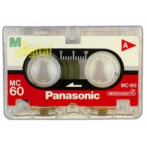 Fita Micro Cassete Mc-60 Panasonic - Embalagem Com 04 Unid.