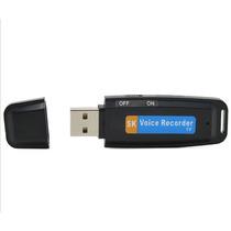 Micro Gravador Voz Audio Espiao Spy Pen Drive 4gb Oculto Usb