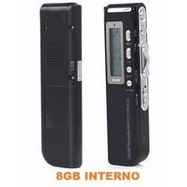 Gravador De Voz Digital Espião 8gb Grava Até 12 Dias
