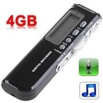 Gravador De Voz Digital Espião 4gb Escuta Telefônica E Mp3 !