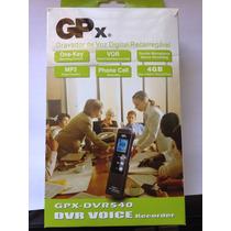 Mini Gravador Digital Gpx Dvr540 Até 1080 Horas Gravação