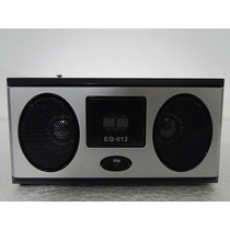 Caixa De Som Portátil Eq-12 Mp3 Entrada Usb Pen Drive Rádio