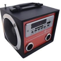 Caixa De Som Yy 02 Portátil Mp3 Entrada Usb Pen Drive Radio