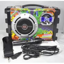 Caixa De Som E Karaoke Portátil Et-p2511 Ewtto