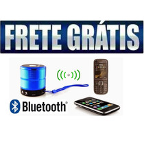 Mini Caixa De Som Bluetooth Speaker + Chamada De Celular.