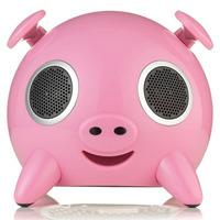 Caixa De Som Portátil Pig Rosa Usb Sd 23w Bivolt Ispeaker
