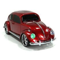 Fusca Caixa Caixinha Som Portátil Carro Mp3 Micro Sd Usb Fm