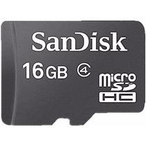 Cartão Memória Micro Sd 16gb Sandisk Tablet Samsung Sony Lg