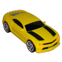 Caixa De Som Carro Camaro Amarelo Portátil Mp3 Usb Sd E Rá