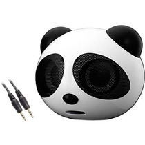 Mini Caixa De Som Portátil Panda Rádio Fm Entrada Usb Cartão