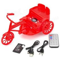 Triciclo Caixinha De Som Portátil Usb Rádio Fm Mp3