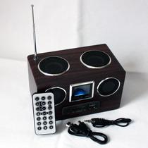 Caixa Som Portatil Recarregavel Radio Fm Mp3 Usb Ad-5
