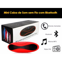 Mini Caixa De Som Bluetooth Speaker Alto-falantes Subwoofer