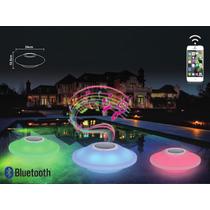 Luminária Caixa De Som Led P/ Piscina C/ Bluetooth Controle