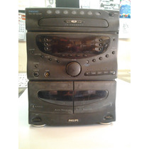 Radio Philips 7cd + 2 Toca-fitas (play Back + Rec) Fw 650c