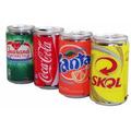 Caixinha De Som Lata Refri Cerveja Mp3 Usb P2 Skol Coca Fm