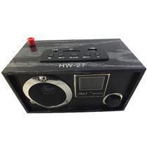 Caixa De Som Mp3 Speaker Ru-27 Usb Sd Controle Remoto A5201