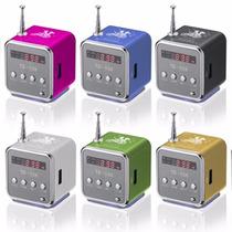 Mini Caixa C/ Display Toca Som Mp3 Rádio Fm Pendrive