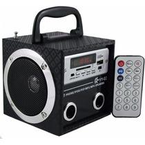 Caixa Som Yy Caixinha Portátil Usb Mp3 Radio Fm Sd - V45