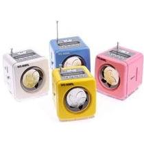 Mini Caixa Som Portatil Ws-908 Usb Varias Cores