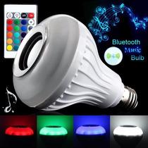 Lampada Luz Led E27 Caixa Som Speaker Bluetooth + Controle