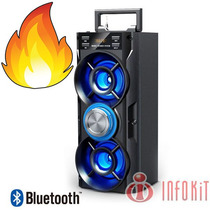Caixa De Som 2.0 Bluetooth 20 Watts Mic Sd Usb Fm Duplo Bass