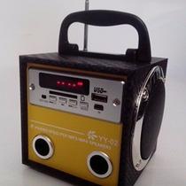 Caixa De Som Portátil Yy 02 Mp3 Pendrive E Cartão Memoria Fm
