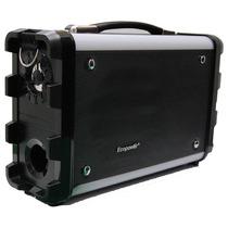 Caixa De Som Portátil Amplificada Mini System Radio Fm Usb