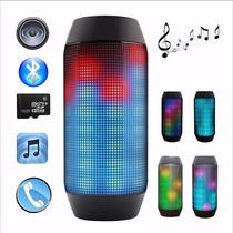 Caixa De Som Portátil Bluetooth Led Rádio Pulse Similar Jbl