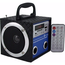 5 Caixa De Som Yy02 Portátil Mp3 Entrada Usb Pen Drive Radio
