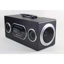 Caixa De Som Bluetooth Usb Fm Sd Amplificada Recarregável