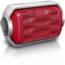 Caixa De Som Philips Vermelho Bluetooth À Prova D