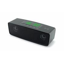 Alto Falantes Bluetooth Usb Tf Cartão Relógio Despertador
