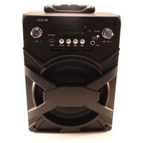 Caixa De Som Amplificada Usb Sd Fm Led Entrada Microfone