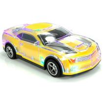 Caixa De Som Camaro Amarelo Ws-380 Com Leds Usb Sd Radio