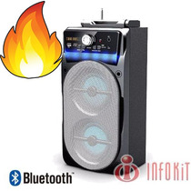 Caixa De Som Bluetooth 20 Watts Mic Sd Usb E Radio Fm M882bt