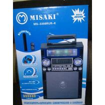 Caixa De Som Amplificador Usb Sd Am/fm Mp3 Gravador Radio