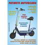 Patinete Elétrica Carrega Até 110kg À 25km/h,1 H Autonomia.